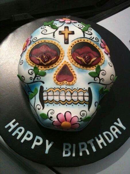 Birthday Cake Dia De Los Muertos Birthday Cake Cake