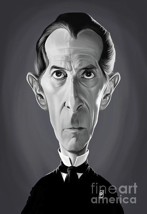 Peter Cushing art | decor | wall art | inspiration | caricature | home decor | idea | humor | gifts