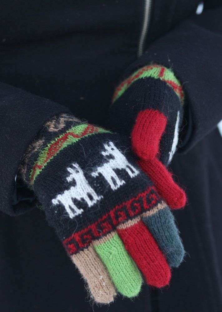 Acrylic and wool give them extra fit and warmth for the coldest, wettest days. Fun, colourful fingers!