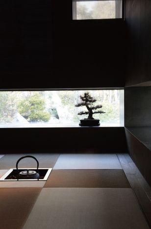 お茶の心得ないですが、こんな茶室が欲しいなw 茶室で珈琲って反則かしら?w 2014 /2/21 at Bangkok  am8:45