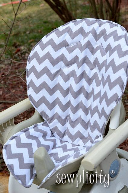 fisher price spacesaver high chair cover hire kings lynn space saver chevron gray baby pinterest highchair and sewing projects for kids