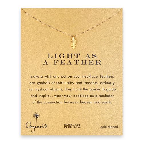same company I got my apple from. I like this, too.: Trav'Lin Lights, Gifts Ideas, Gold Feathers, Feathers Necklaces, Dogear Lights, Feather Necklaces, Gold Dipped, Gold Dips, Christmas Lists