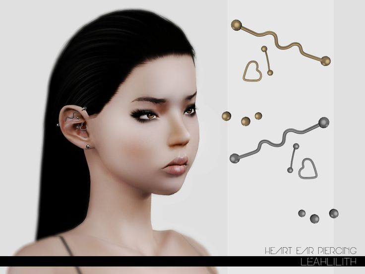 Leah Lillith's LeahLillith Heart Ear Piercing