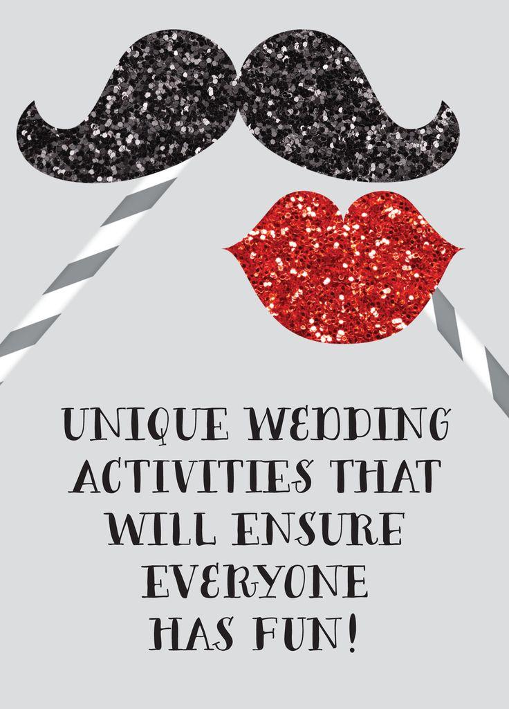 Unique wedding activities that will ensure everyone has fun!
