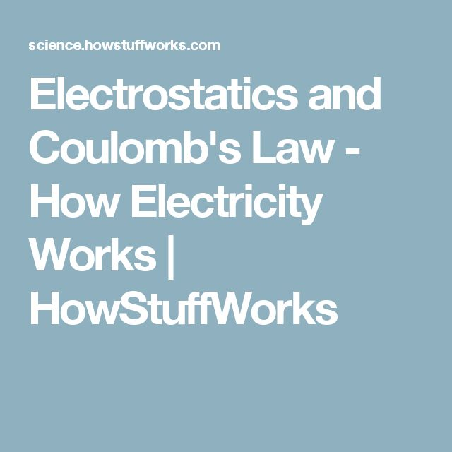 Electrostatics and Coulomb's Law - How Electricity Works | HowStuffWorks