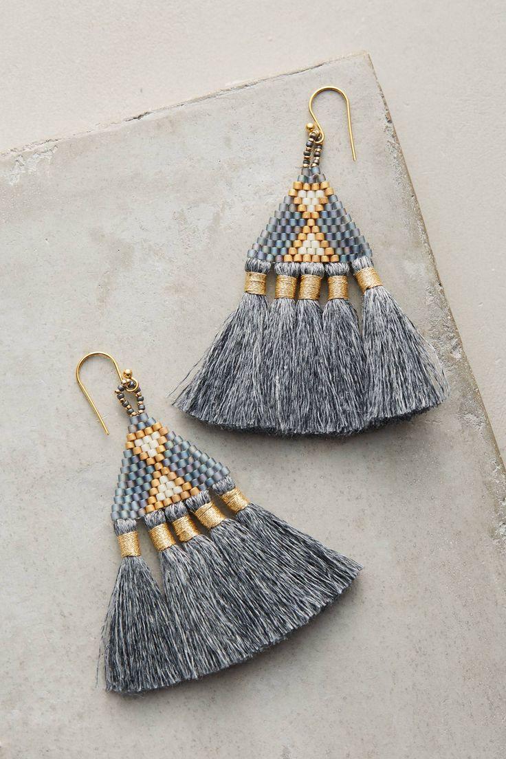 Slide View: 1: Tri Tassel Earrings
