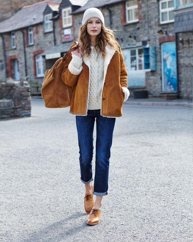 Best 25  Sheepskin jacket ideas on Pinterest | Women's aviator ...