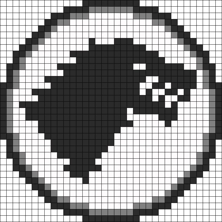 Game Of Thrones Stark Sigil perler bead pattern