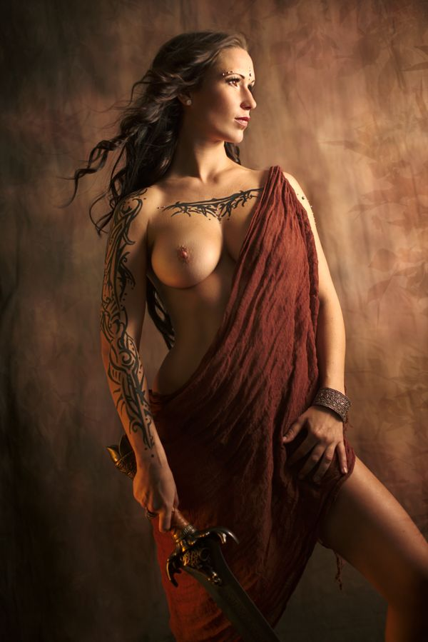 Naked nude women warriors