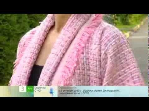 Ольга Никишичева. Сшить жакет -букле.(Olga Nikishicheva. Sew-boucle jacket) - YouTube
