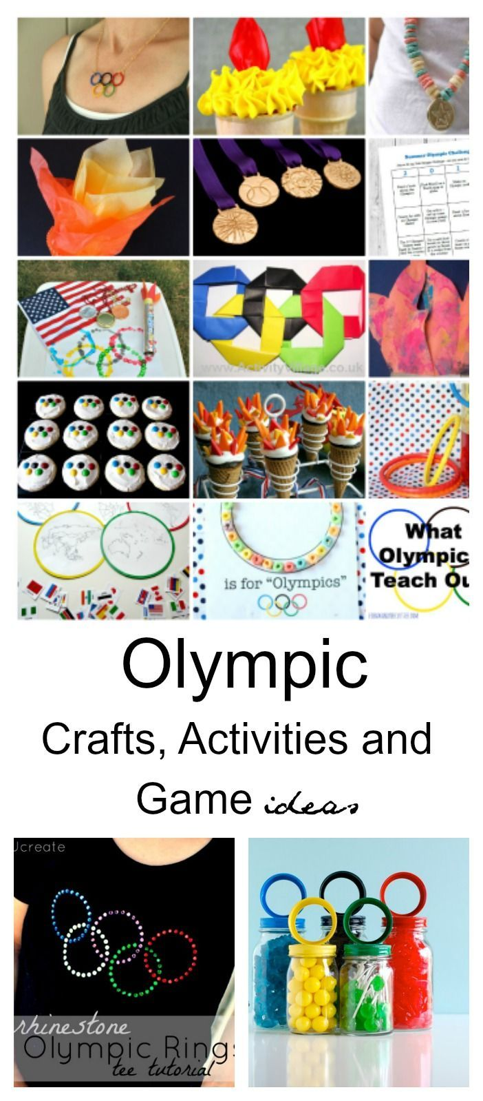Summer Fun Ideas| Do you love to watch the Olympics? What is your favorite Olympic Event? Swimming is one of our family favorites. I thought it would be fun to have an Olympic themed party and so I collected some Olympic Crafts, Activities and Game Ideas from around the web. How will you celebrate the Olympic Games?