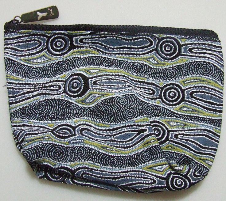 Yijan 1 Zip Cosmetic Bag Design: Water Dreamime Artist: Maureen Hudson Nampajimpa Code: YI-COS-12Slate Price: $9.50 or 2 for $17.00