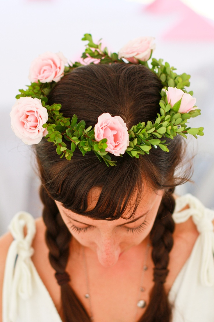 Wedding Flower Crown, Flower Crown for flower girl www.sweetpfloral.com