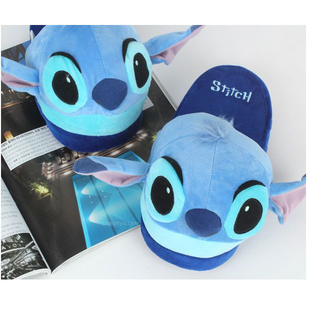 Disney Stitch Slipper Plush Doll Cushion Slippers Lilo and Stitch Toy Shoes