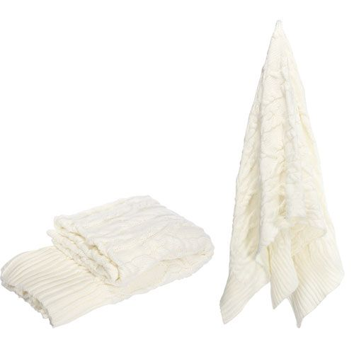 Florence de Dampierre by AB Home White Polyester Throw