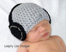 Neonato foto Prop, cuffia cappello, uncinetto cappello, neonato, neonata, cuffie, fatto a mano - taglie neonato T0 12 mesi - più opzioni di colori