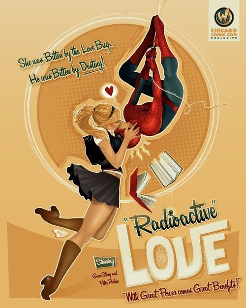 """Spiderman and Gwen Stacy - """"Radioactive"""" Love"""