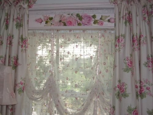 Pink Rose Roman Curtains | Flickr - Photo Sharing!