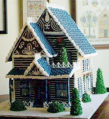 Log Cabin Rob and I both love the idea of learning how to make gingerbread houses so Ill probably be sharing these as I come upon them. #santa