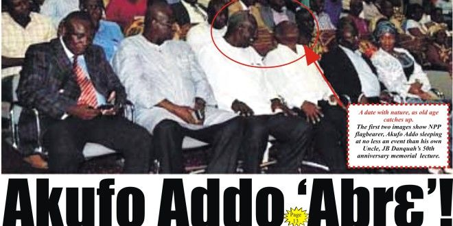 "Grandpa ""AbrƐ"": Akufo Addo sleeps at Dr. J.B Dankwa 