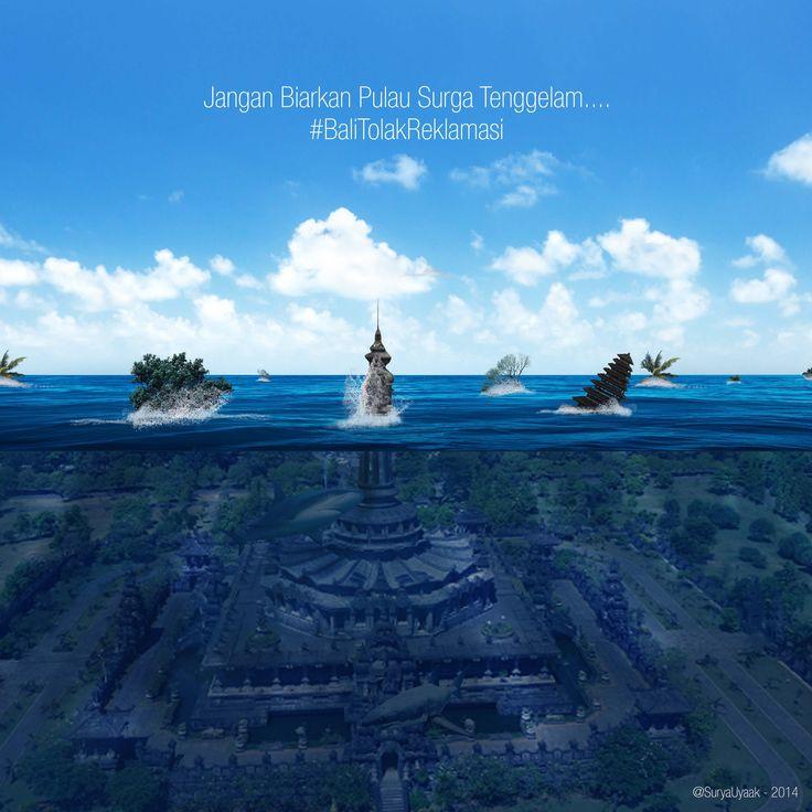 Bali Tolak Reklamasi #bali #tolak #reklamasi #water #underwater #sink #bajrasandhi #digitalimaging