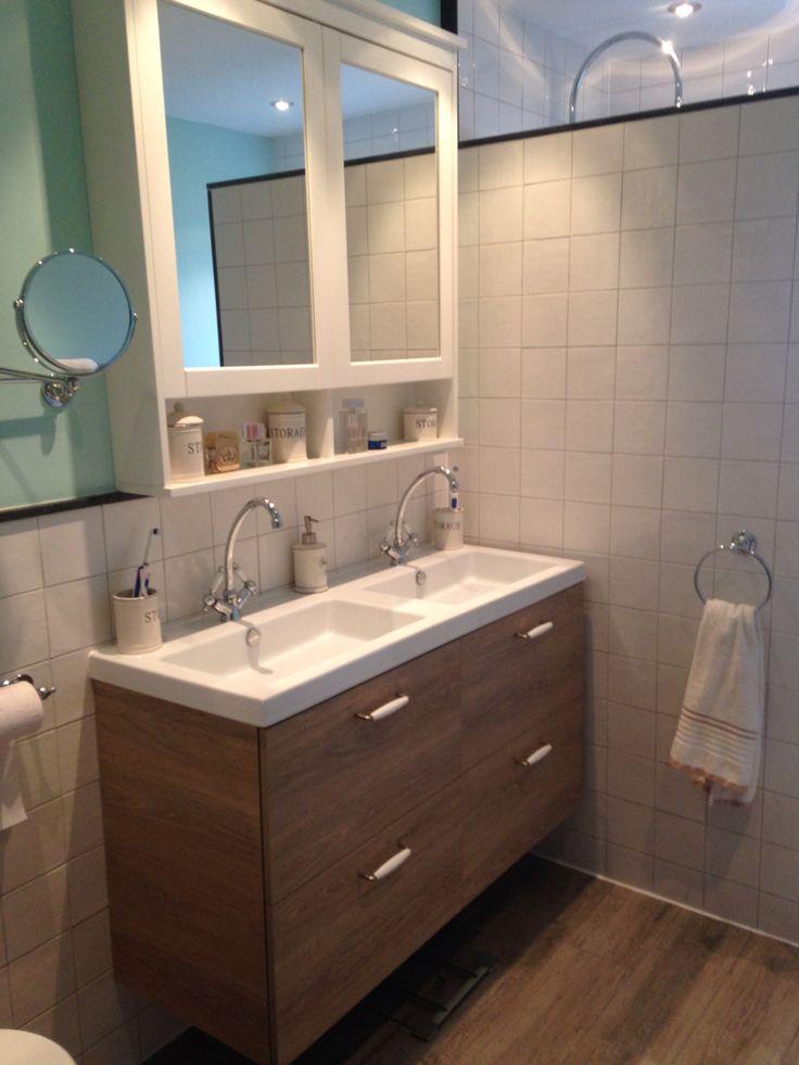 Badkamer landelijk retro mint Bathroom country