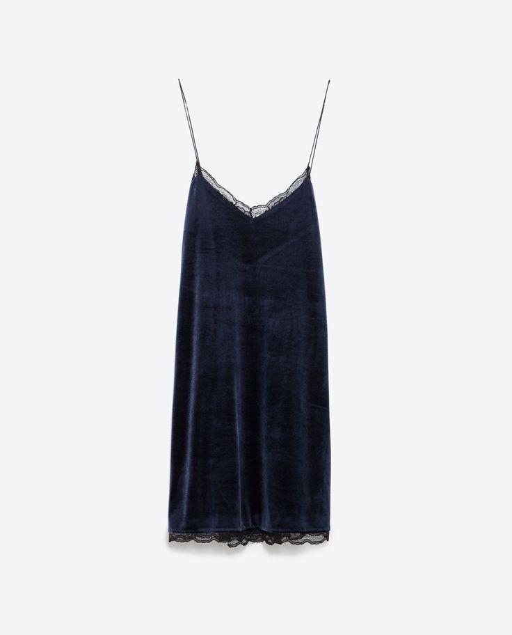 VELVET DRESS-Mini-Dresses-WOMAN | ZARA United States