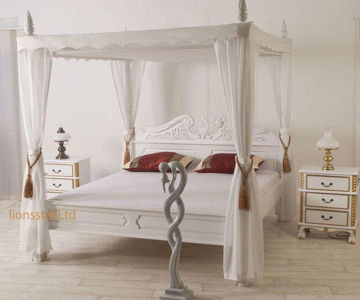 Himmelbett Weiss Mahagoni Barock | Möbel U0026 Wohnen, Möbel, Betten U0026  Wasserbetten | EBay