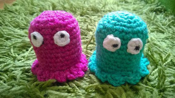 Crochet Pacman Ghosts