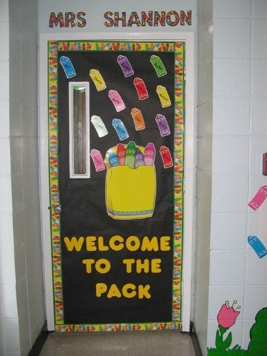 Retro Classroom Decor ~ Best ideas about crayon bulletin boards on pinterest