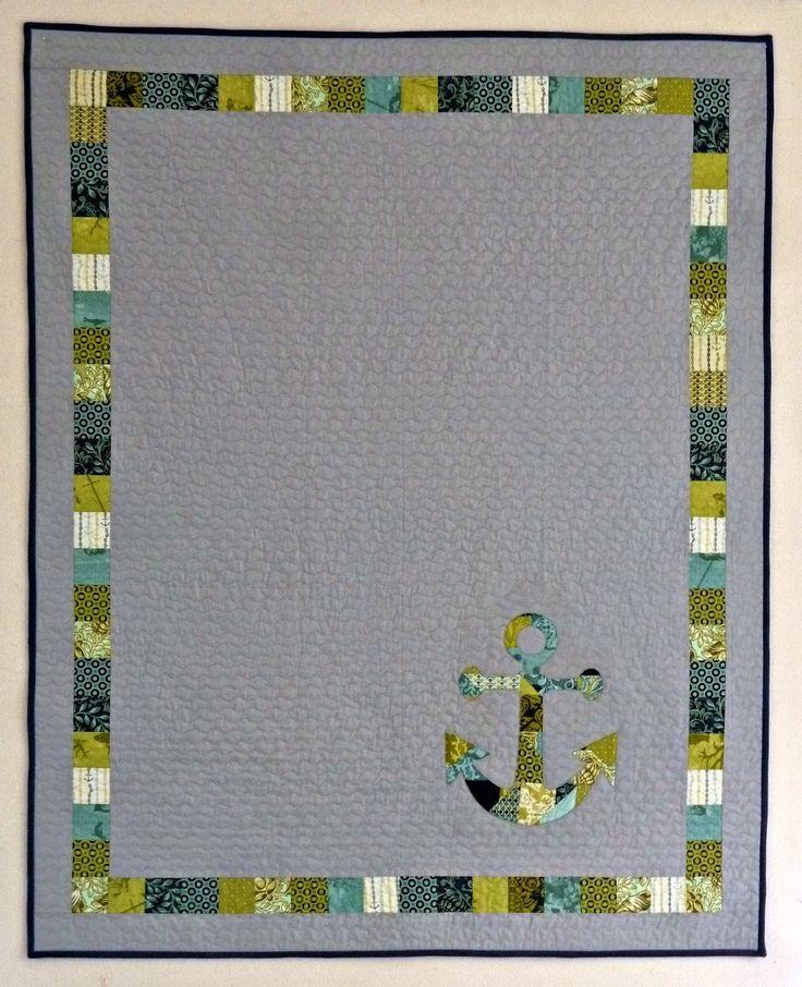 alidiza: And Then I Improvised...  Nautical Neptune baby quilt.