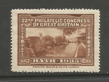 GB/UK Bath 1935 22nd Philatelic Congress of Great Britain poster stamp/label (F)