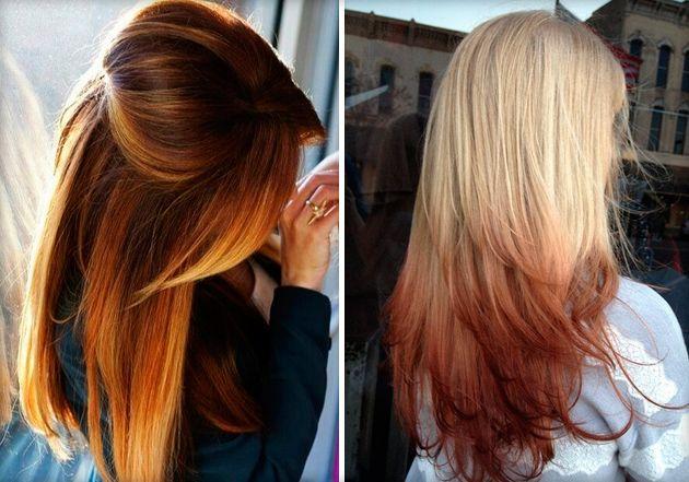 Омбре на русые волосы средней длины, короткие и длинные: варианты окраски и техника выполнения (фото и видео)