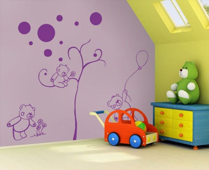 Funny Wall Sticker at Children Room