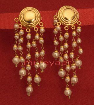 Hand Made Gold Plated Punjabi Traditional Jewellery Earrings Tops J0219 #PunjabiGoldJewellery