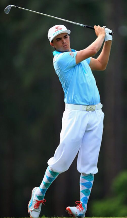 Rickie Fowler... 2014 US Open! Dig the color coordinated argyle socks