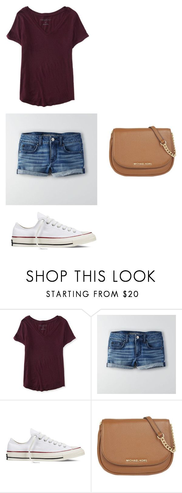 """Extra Outfit for Spring Break in Florida"" by syds-fashion-4-ever ❤ liked on Polyvore featuring Aéropostale, American Eagle Outfitters, Converse, MICHAEL Michael Kors, women's clothing, women's fashion, women, female, woman and misses"