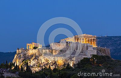 The famous Acropolis of Athens, the eternal symbol of democracy and civilization.