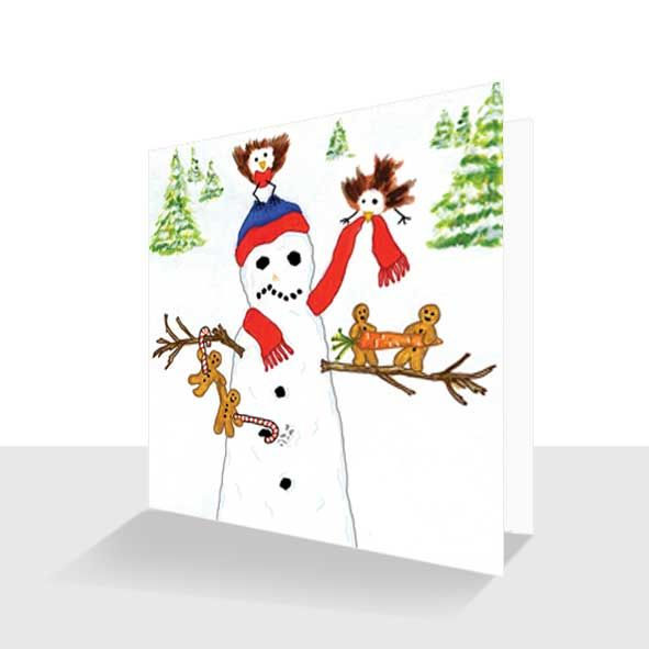 Humorous Christmas Card : Snowman, Unique Greeting Cards Online, Buy Luxury Handmade Cards, Unusual Cute Birthday Cards and Quality Christmas Cards by Paradis Terrestre