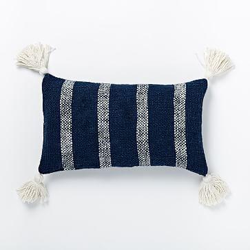 Tassel Stripe Pillow Cover - Nightshade #westelm