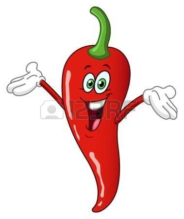 rojo de dibujos animados chile picante Foto de archivo aba14a18f1a