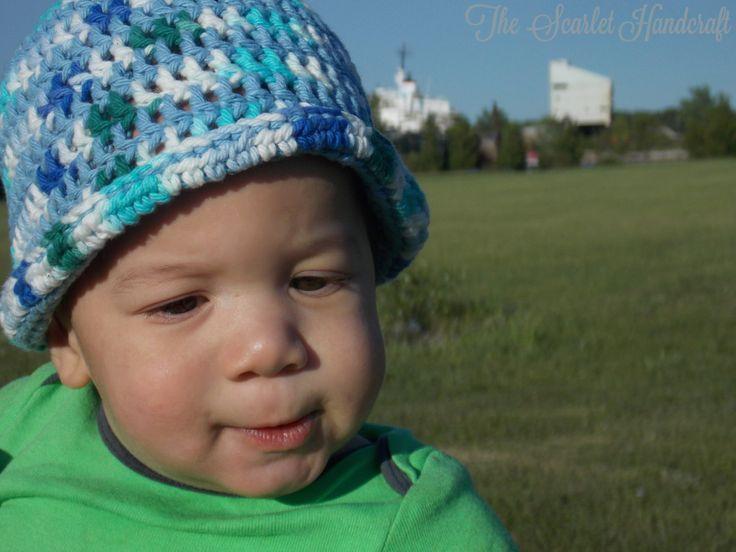 Boy Crochet Summer Hat. Beach Hat. Handmade Summer Baby Hat. by TheScarletHandCraft on Etsy
