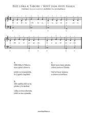 Běží liška k Táboru - Když jsem husy pásala | Noty pro klavír a akordeon