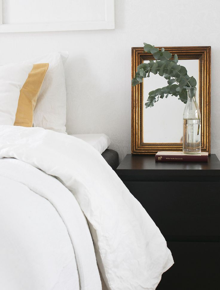 Bedroom sidetable decor
