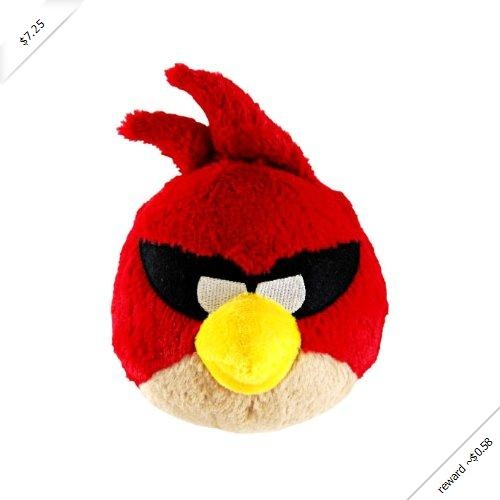 """Angry Birds 5"""" Space Red Bird Plush with sound"""