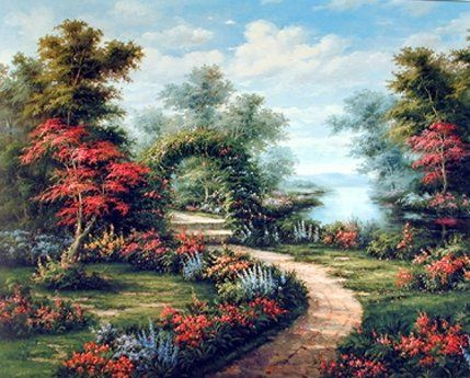 This unique and beautiful garden poster will be a great addition to your home decor. This scenic wall poster depicts the image of a garden path under colorful flower arch which will definitely spruce up your living space with a lot of imagination. It will be a perfect addition for your living room, drawing room or anywhere you want to hang. Hurry up! Buy this wall poster for its high quality with perfect color accuracy.