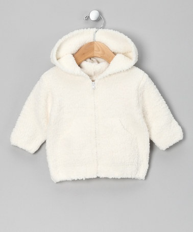 Take a look at this Cream Zip-Up Hoodie by nicer on #zulily today!
