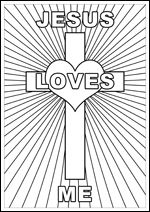 FREE Printable Christian Bible Colouring Pages For Kids Jesus Loves Me Corner
