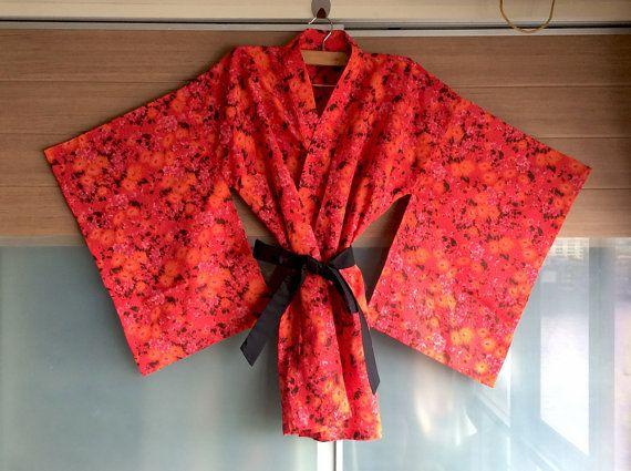 Sexy rode bloemen Kimono bruidsmeisje Gift steeds klaar