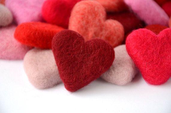 Needle Felted Hearts